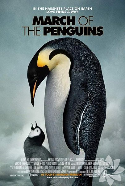 March of the Penguins – İmparatorun Yolculuğu İmparator Penguenleri'nin binlerce yıldır tekrarlanan büyüleyici hikayesini ele alan belgeselin anlatıcısı, Oscar'lı ünlü oyuncu Morgan Freeman. Belgesel, 6 yaş üzeri için uygun.