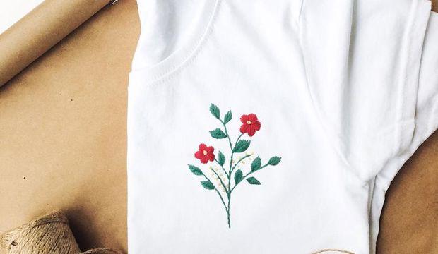 Evde yap: Nakış işlemeli tişört